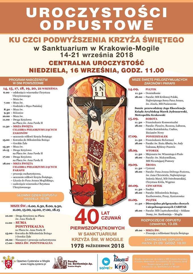 Odpust w Sanktuarium Krzyża Świętego w Krakowie-Mogile