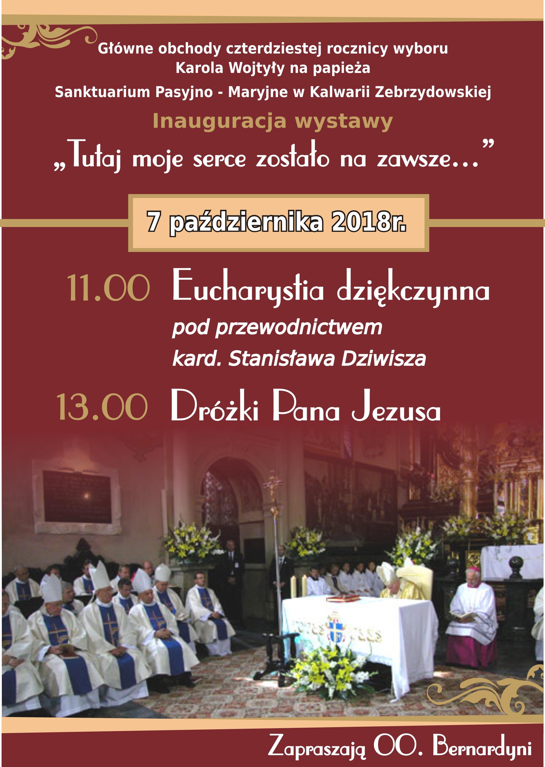 Obchody 40. rocznicy wyboru Karola Wojtyły na papieża – Kalwaria Zebrzydowska
