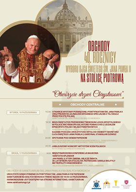 Dziękczynienie w 40. rocznicę wyboru Karola Wojtyły na stolicę Piotrową