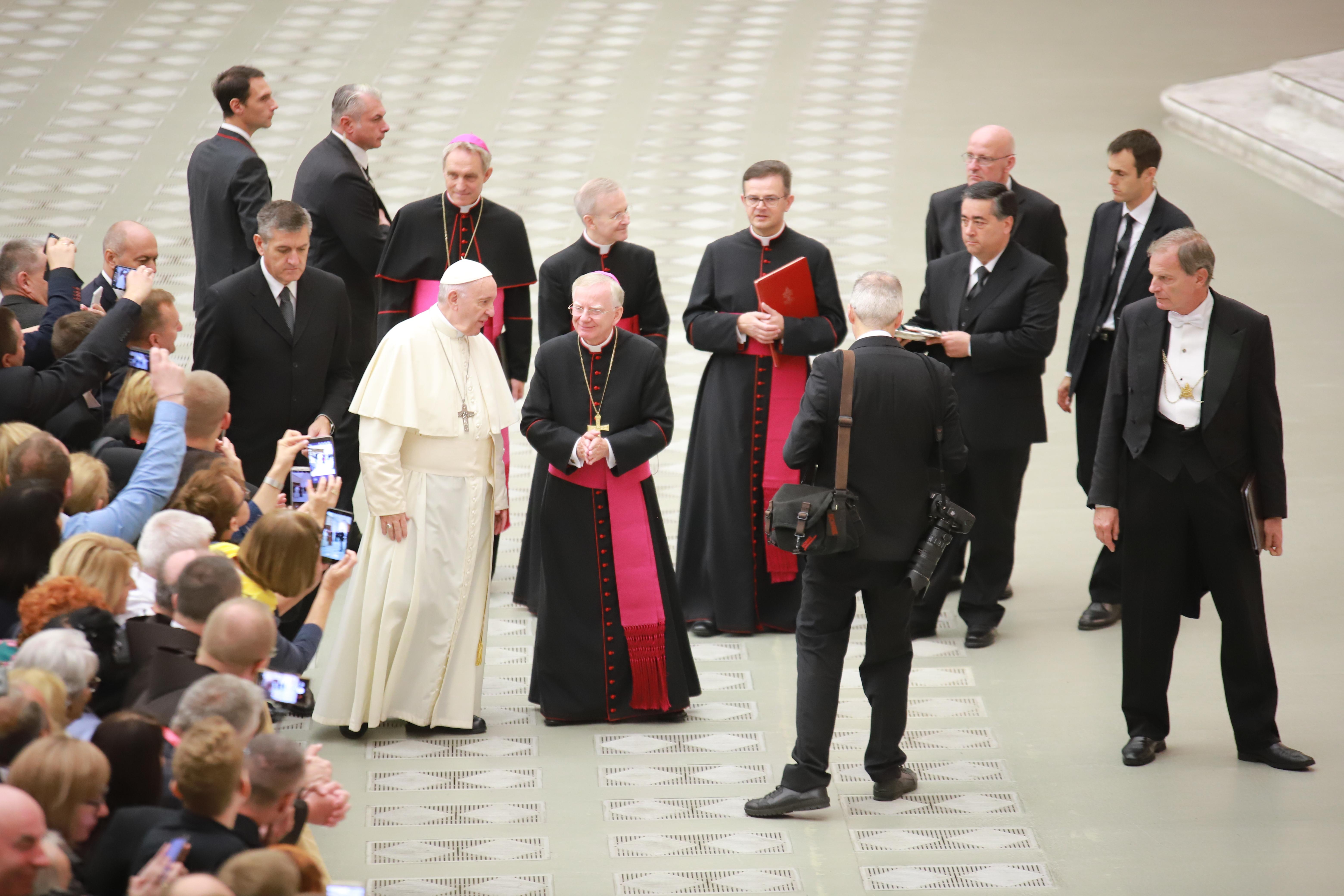 Krakowski Kościół na audiencji u papieża Franciszka