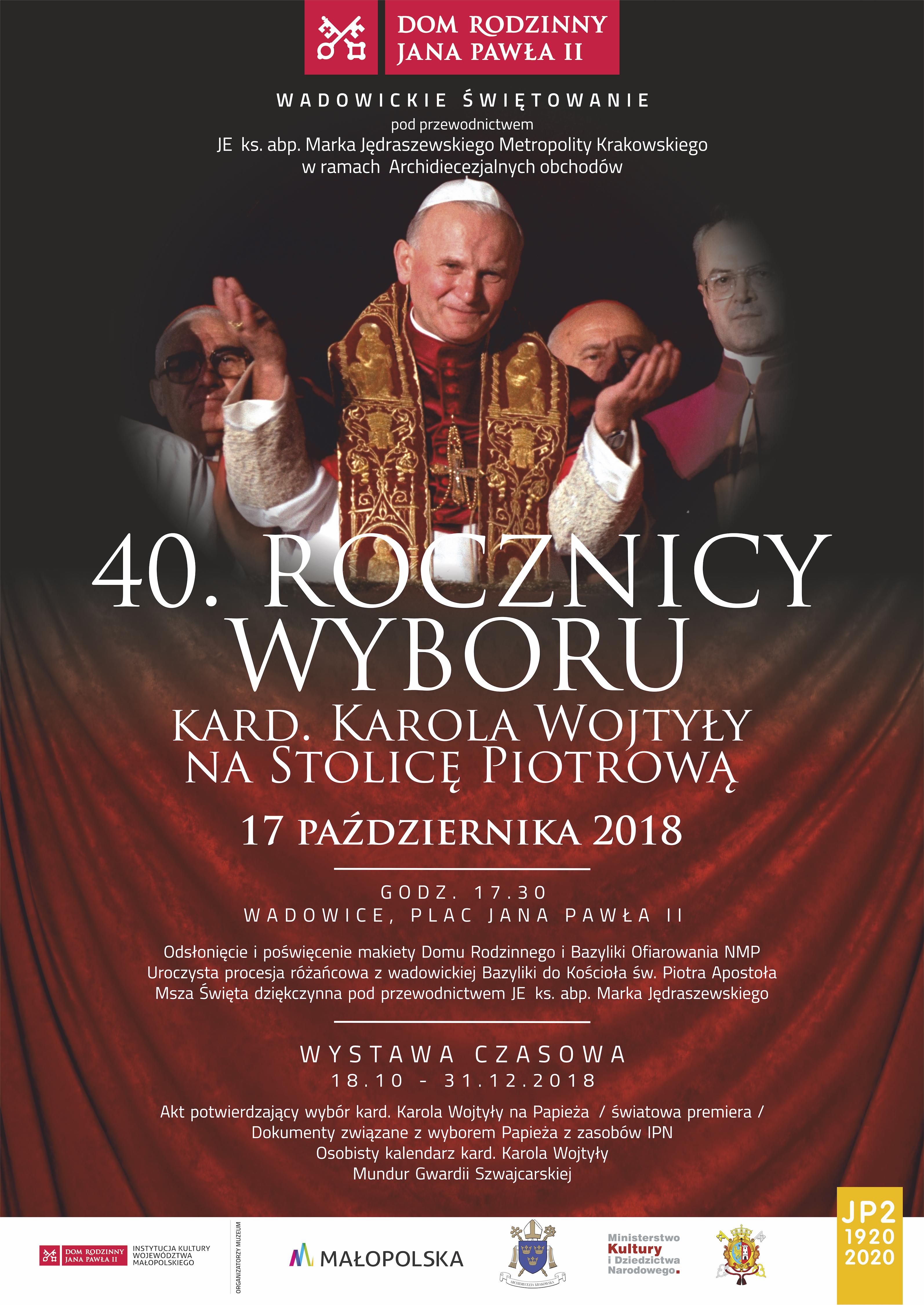 Obchody 40. rocznicy wyboru Jana Pawła II na papieża, w Jego domu rodzinnym w Wadowicach