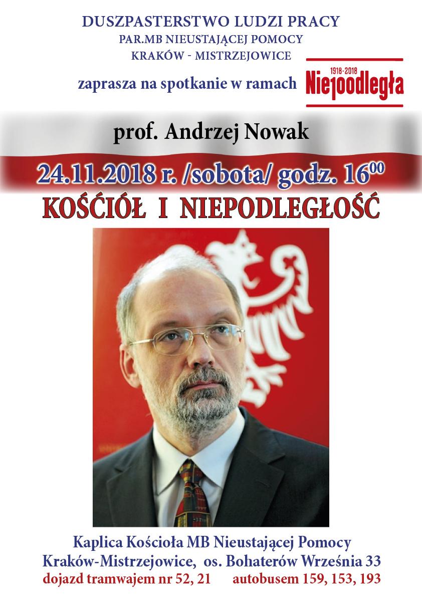 Wykład prof. Andrzeja Nowaka w ramach cyklu Spotkań z Historią i Kulturą