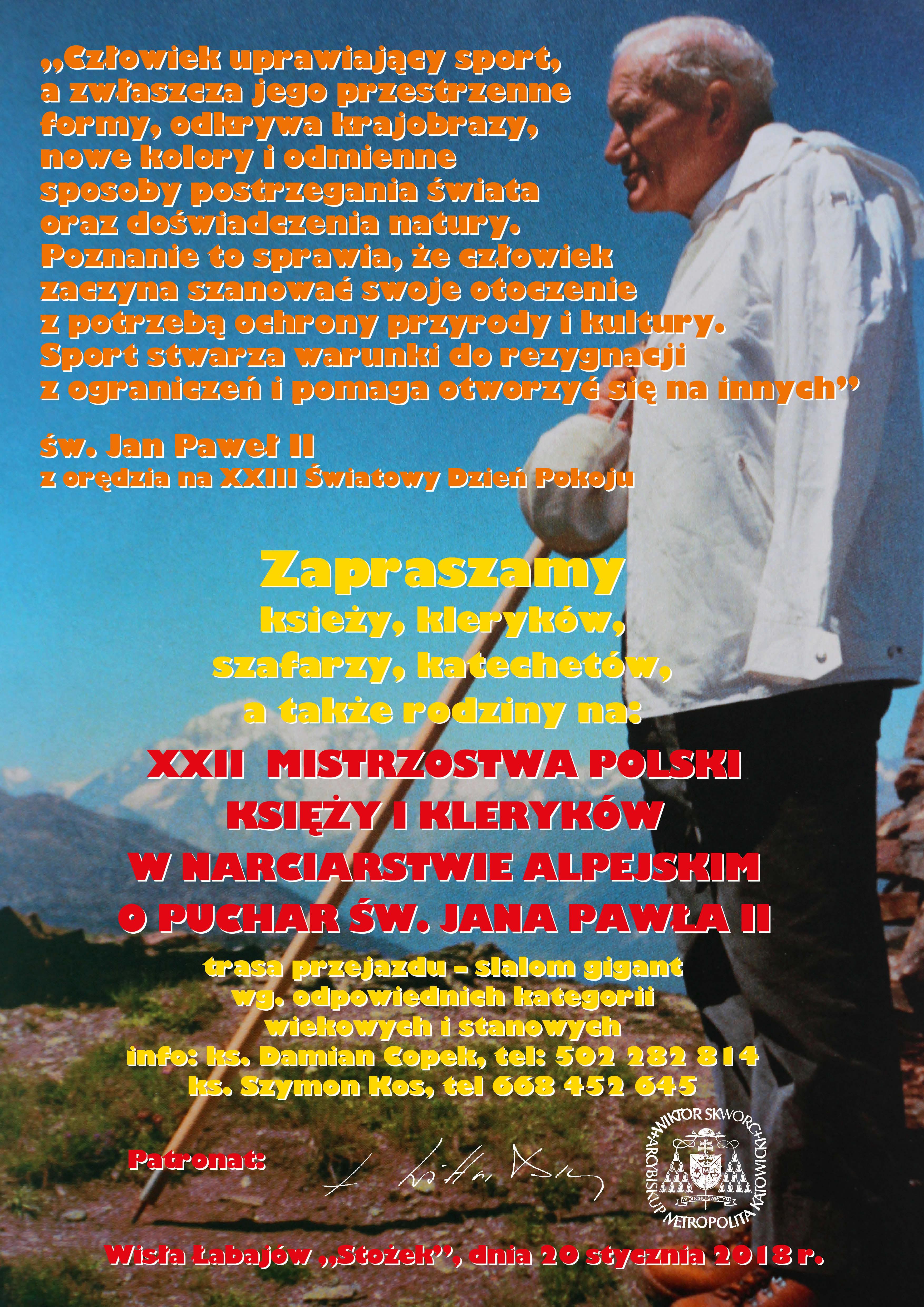 Zawody księży, szafarzy, katechetów i rodzin w narciarstwie alpejskim o puchar św. Jana Pawła II