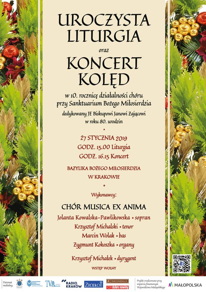 Koncert kolęd z okazji jubileuszu 10-lecia działalności chóru Musica ex Anima