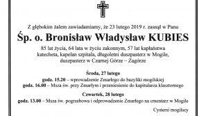 Śp. o. Bronisław Władysław Kubies