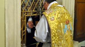 Bp Janusz Mastalski w Sanktuarium św. Józefa w Krakowie