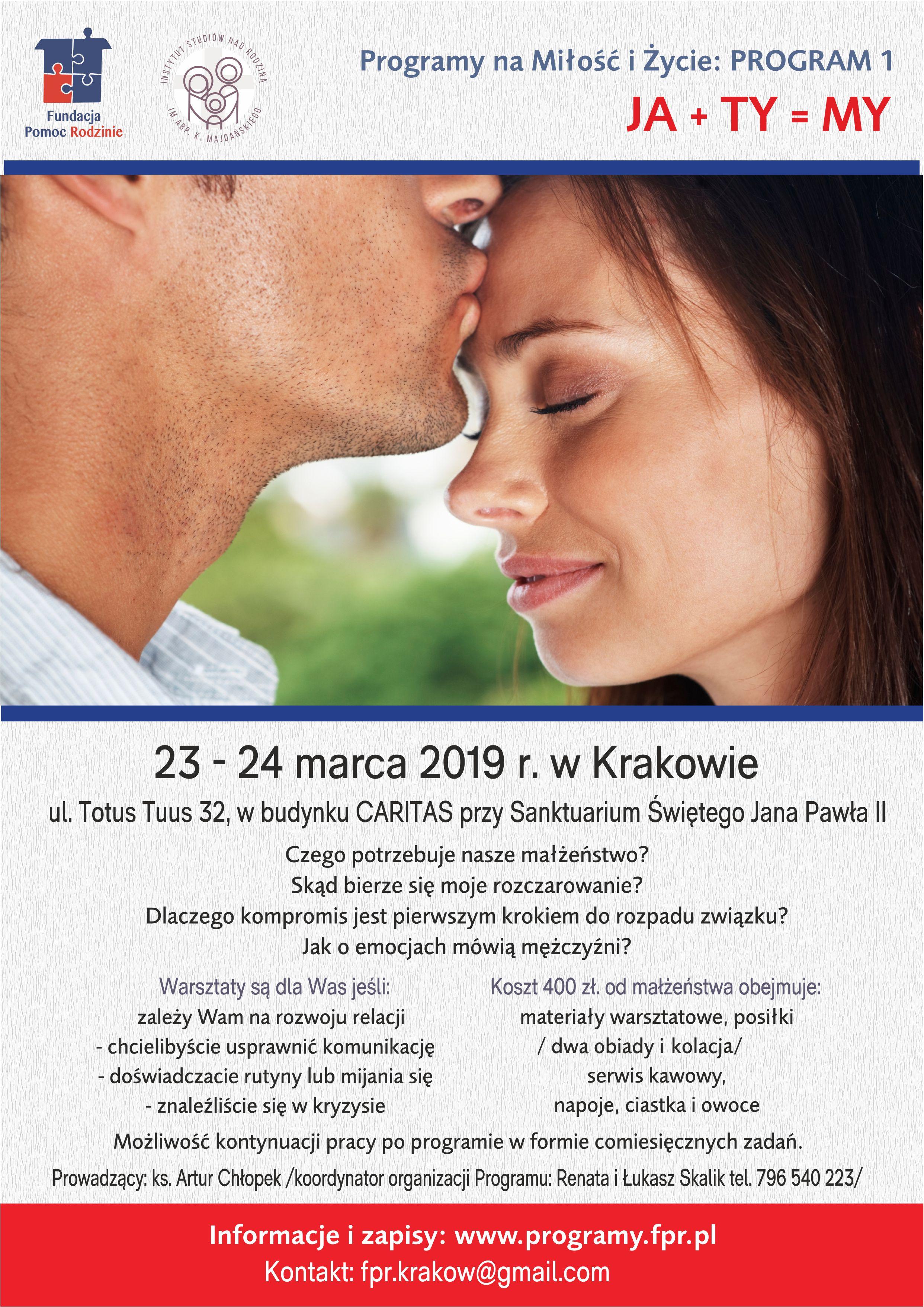 Program Ja+Ty=MY w Krakowie
