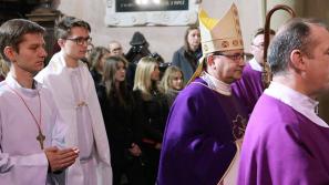 Pielgrzymka zakopiańskich maturzystów do sanktuarium w Kalwarii Zebrzydowskiej