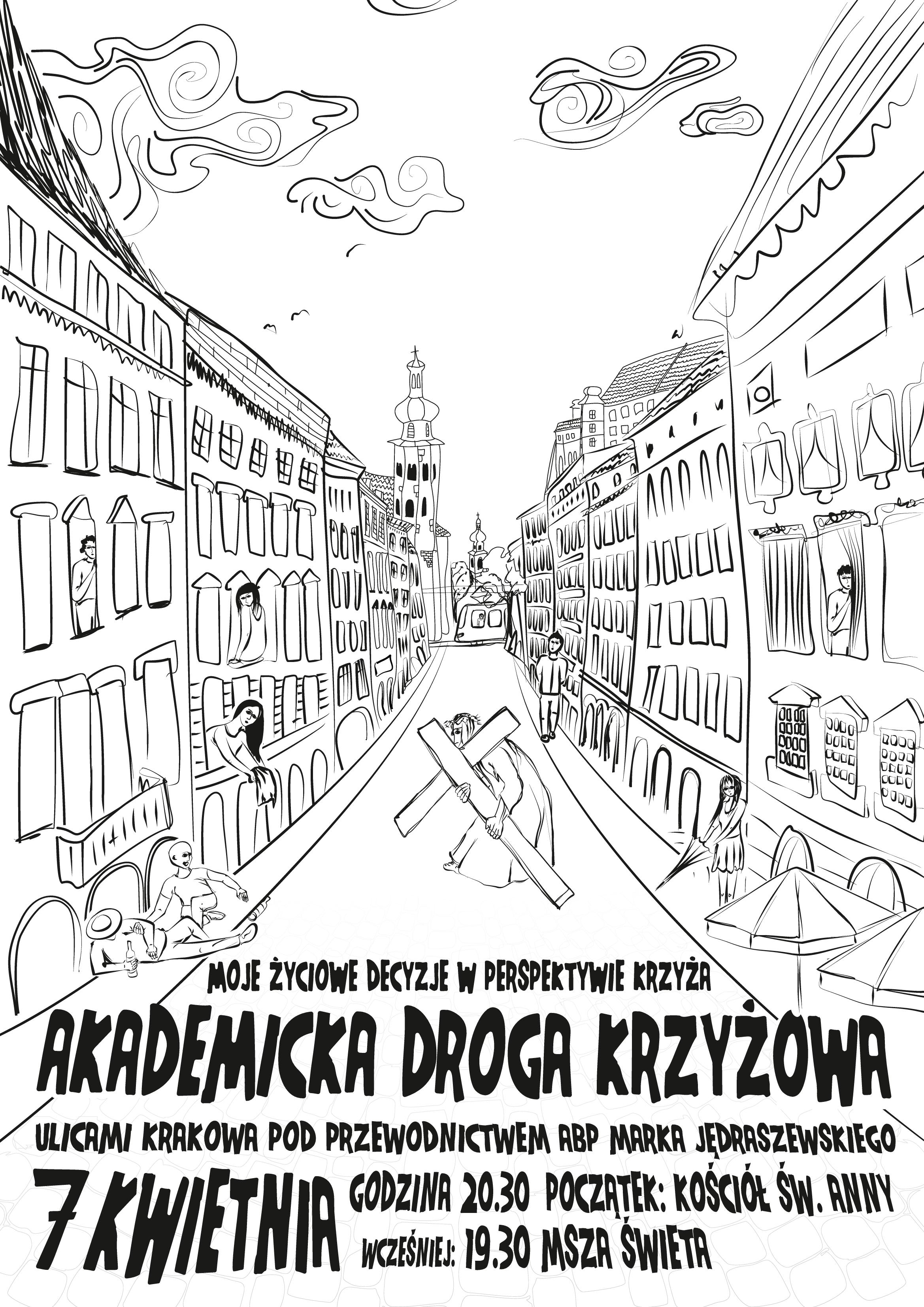 Akademicka Droga Krzyżowa ulicami Krakowa