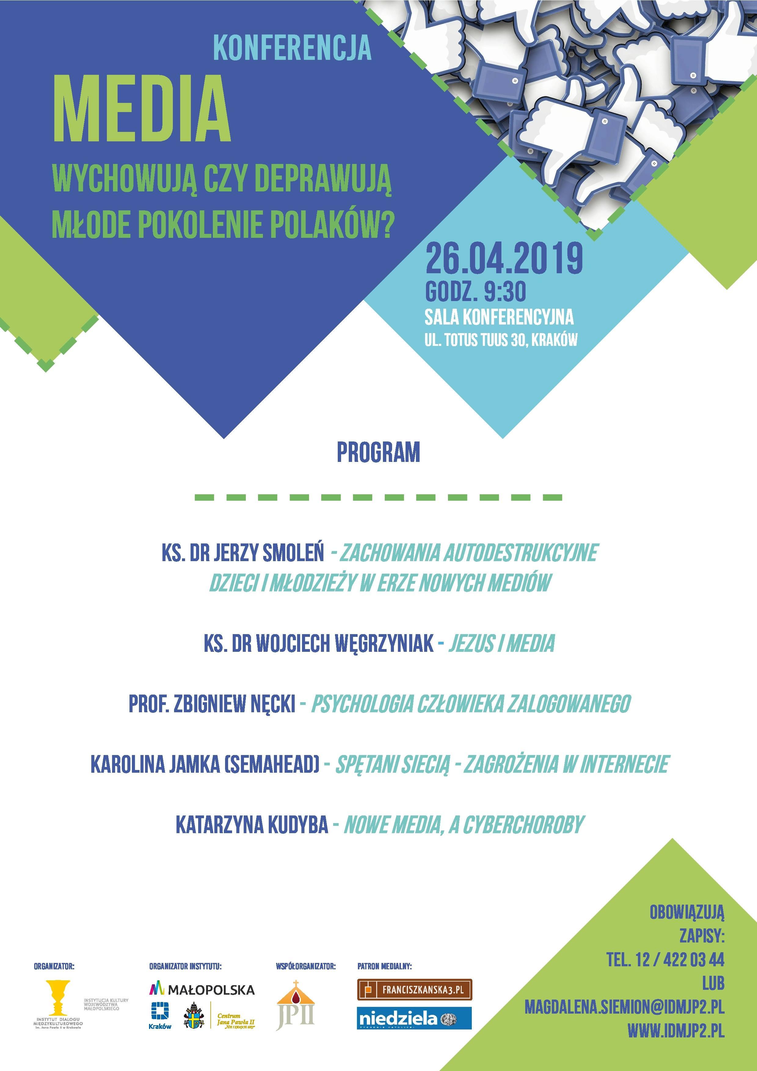Media – wychowują czy deprawują młode pokolenie Polaków? – Konferencja
