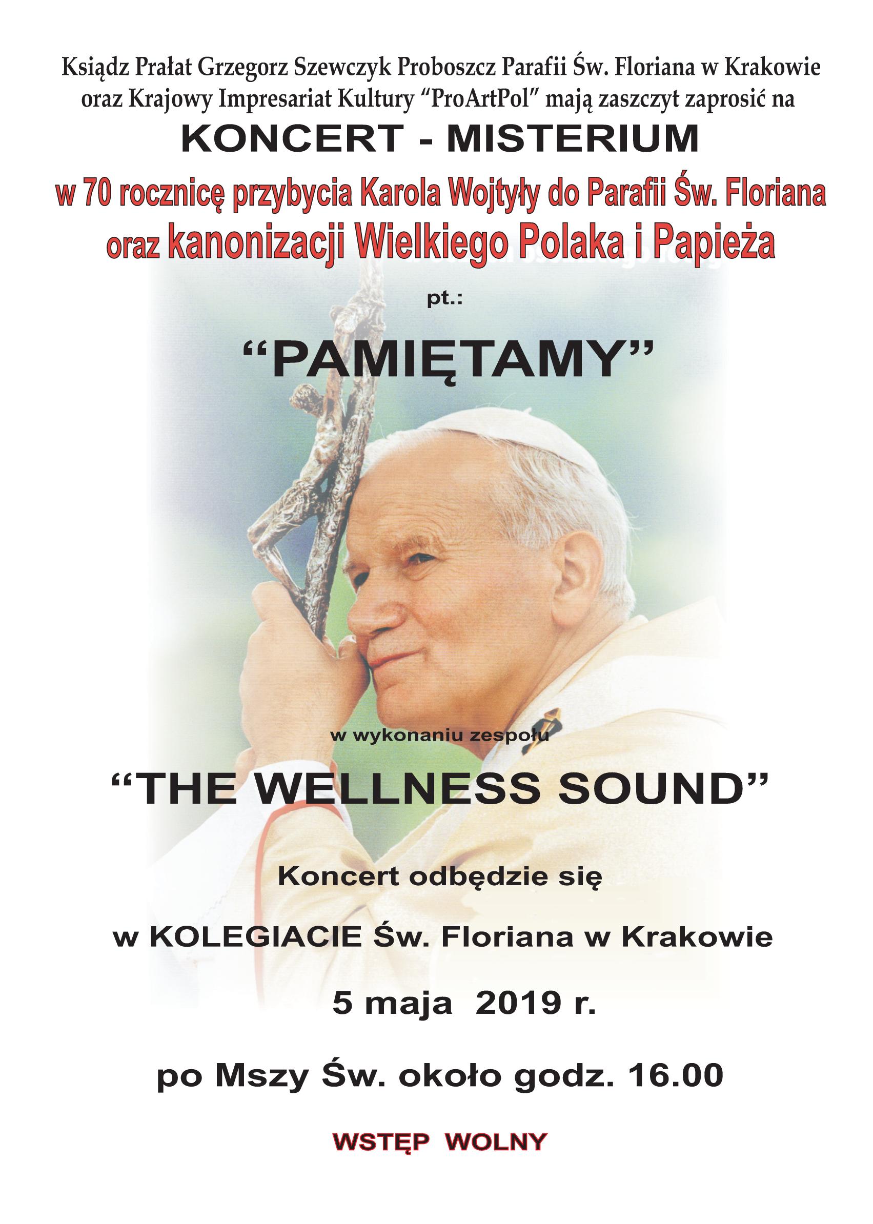 70. rocznica przybycia Karola Wojtyły do Bazyliki św. Floriana