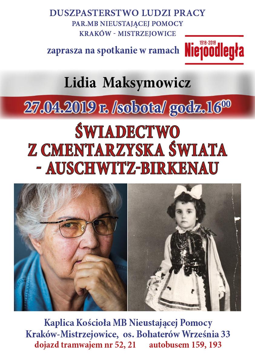 Spotkanie z panią Lidią Maksymowicz