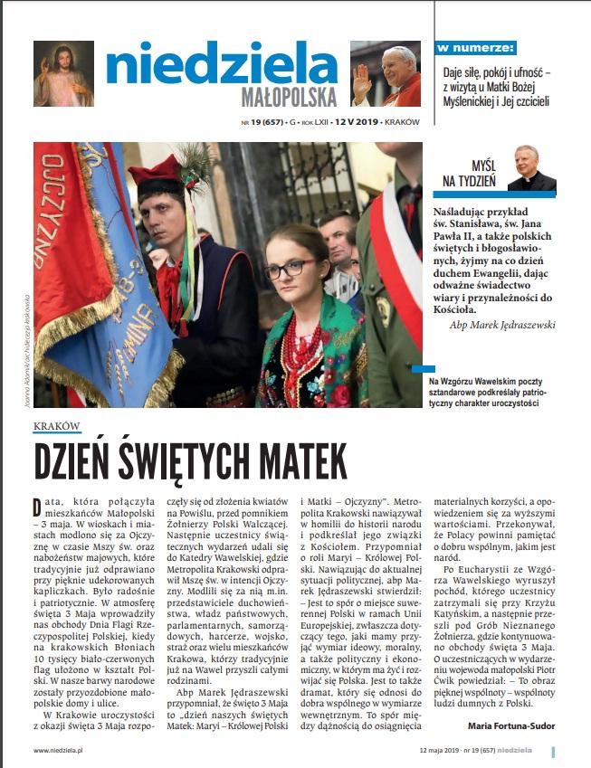 """Warto przeczytać w """"Niedzieli Małopolskiej"""""""