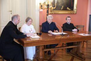 Konferencja prasowa dotycząca uroczystego dziękczynienia za beatyfikację Błogosławionego Michała Giedroycia