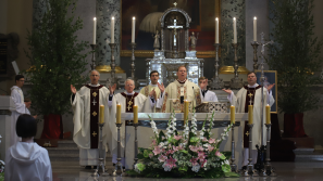 Obchody uroczystości Najświętszego Ciała i Krwi Chrystusa w Wilnie.