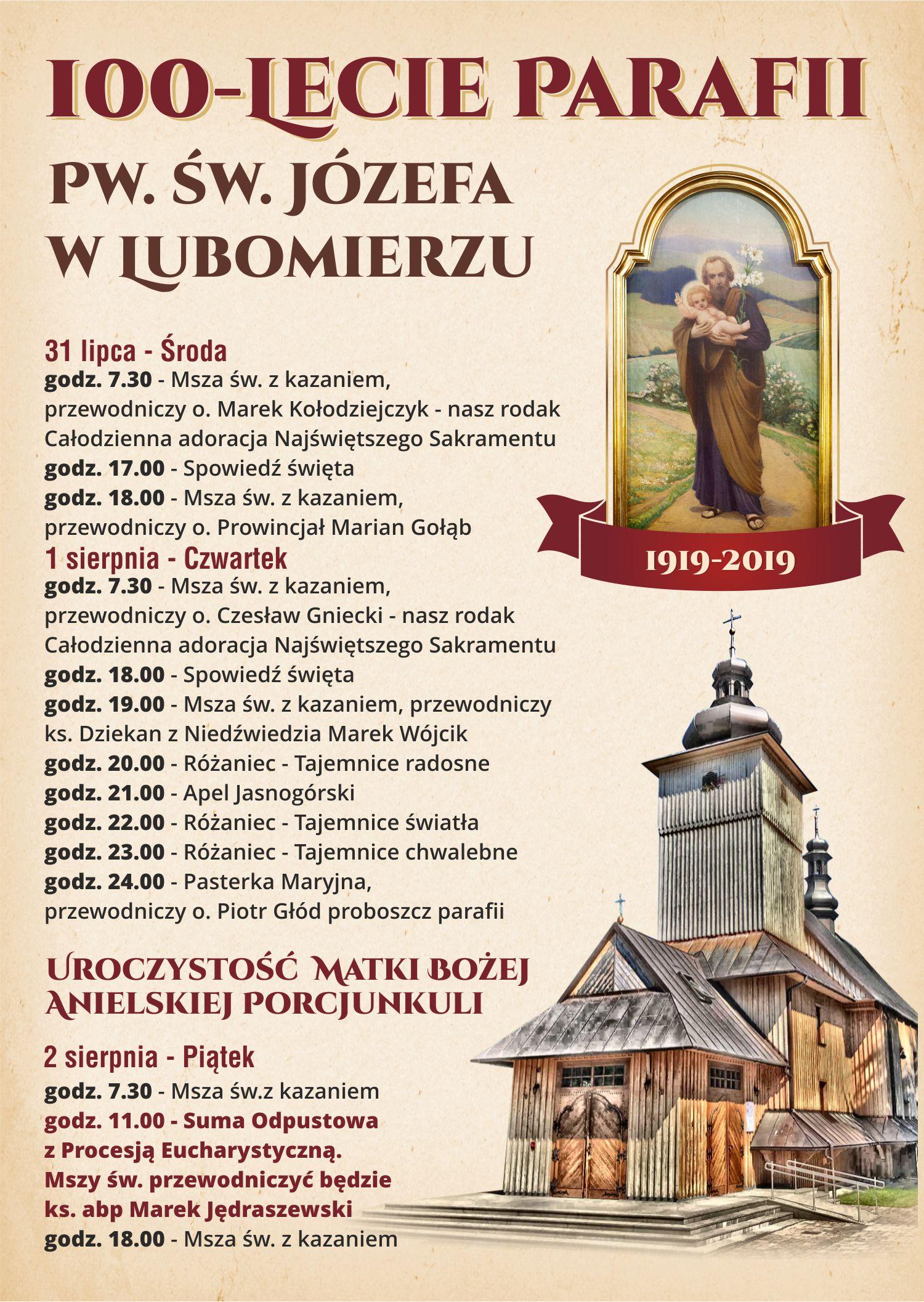 100-lecie parafii w Lubomierzu