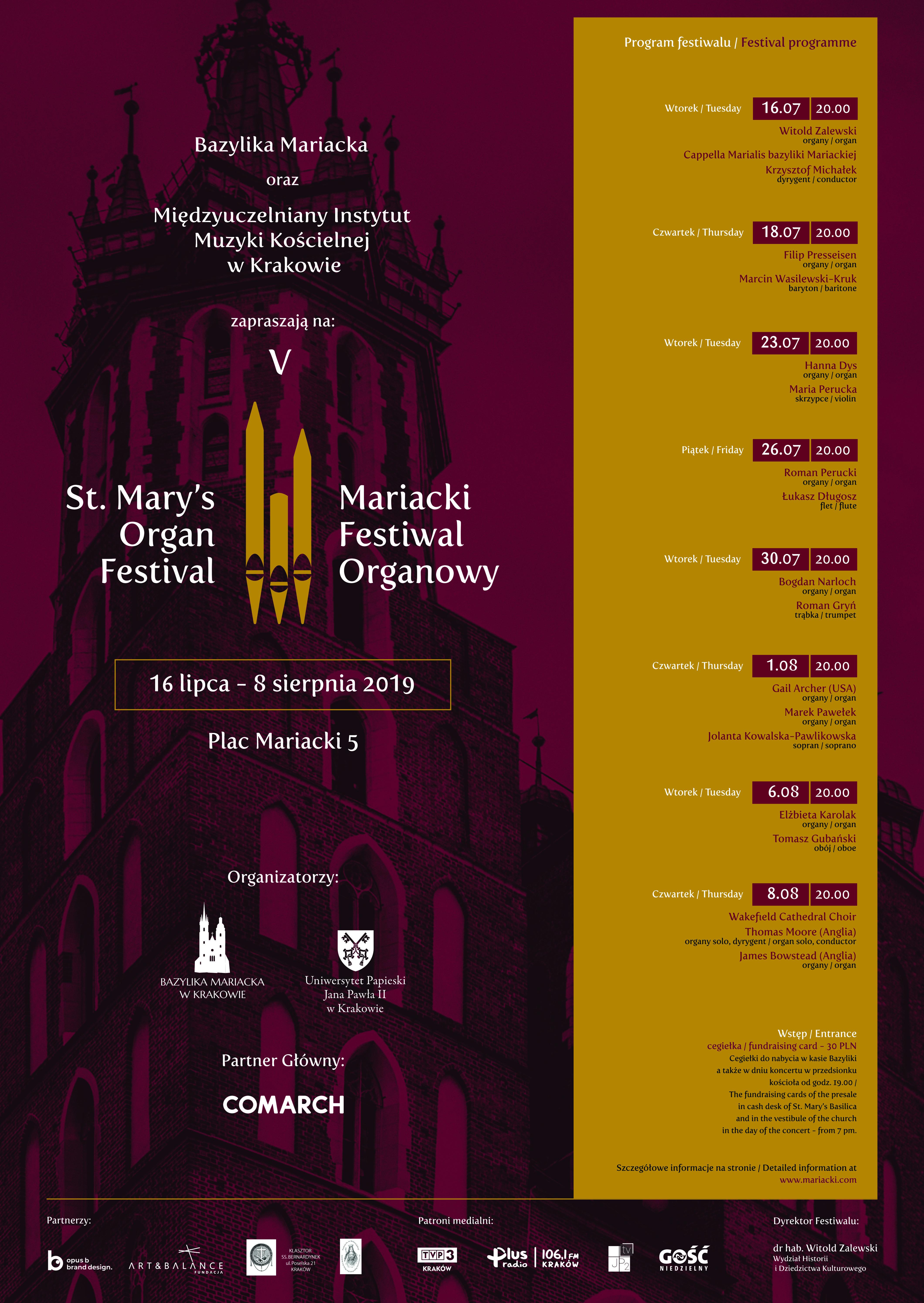 V Mariacki Festiwal Organowy