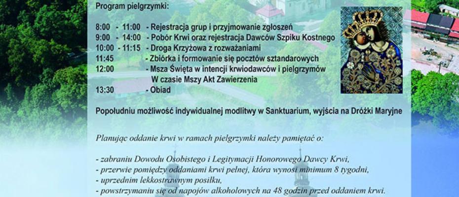 XIII Ogólnopolska Pielgrzymka Honorowych Dawców Krwi i Szpiku Kostnego PCK