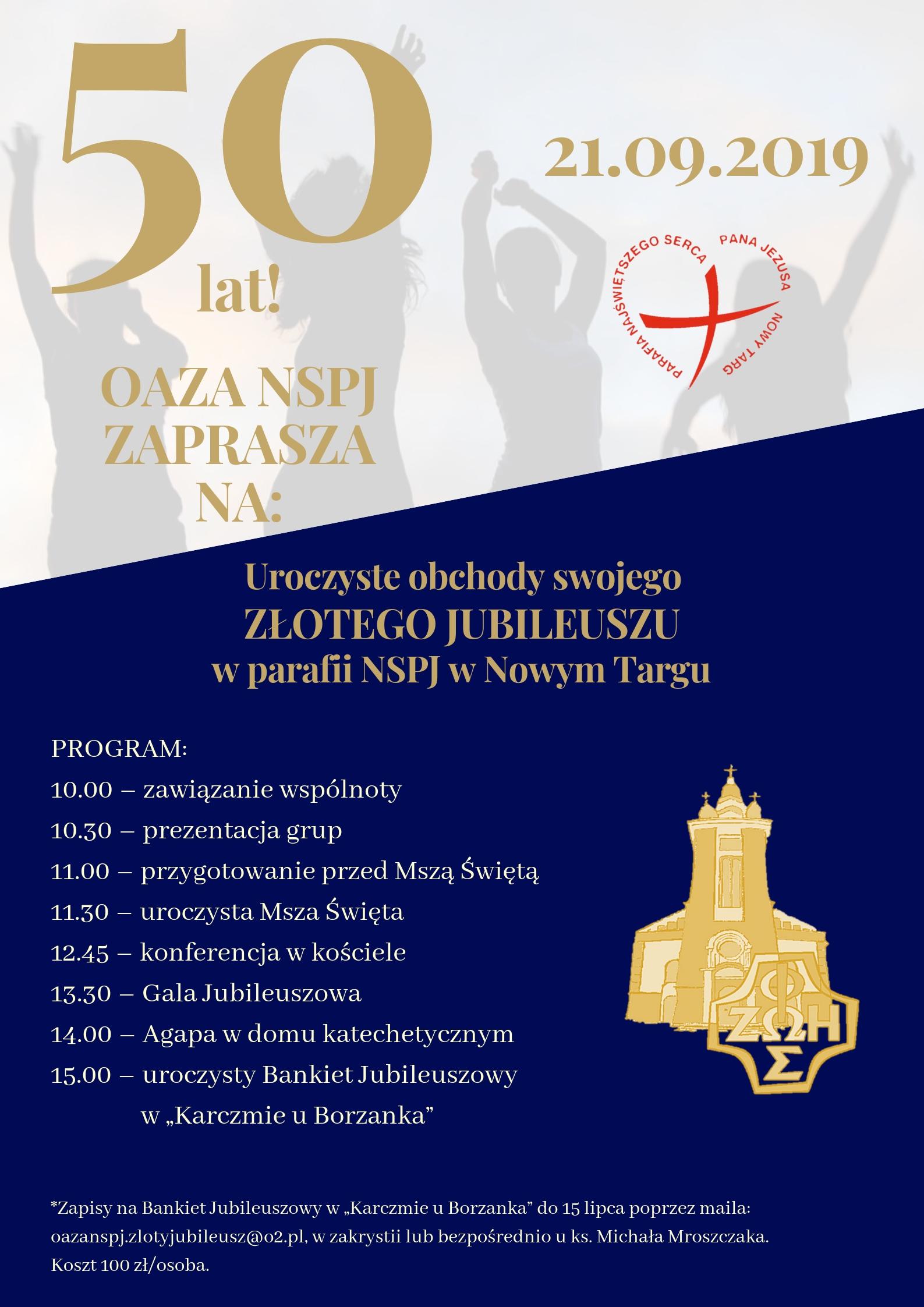 Złoty Jubileusz Oazy w Parafii NSPJ Nowy Targ
