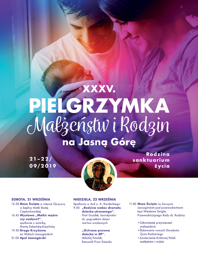 XXXV Ogólnopolska Pielgrzymka Małżeństw i Rodzin na Jasną Górę