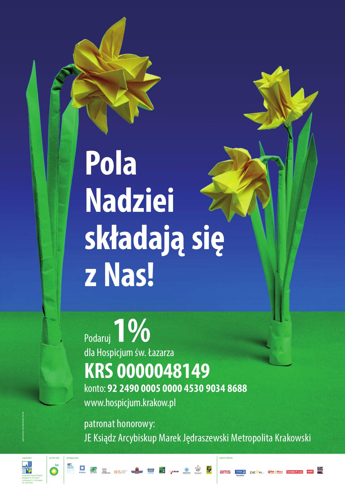 """Sadzenie żonkili na akcję """"Pola Nadziei"""" Hospicjum św. Łazarza"""