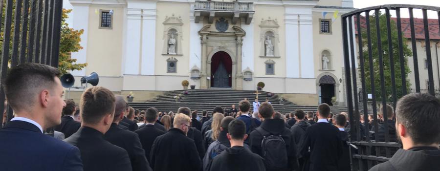 Pielgrzymka wspólnoty akademickiej UPJPII do Kalwarii Zebrzydowskiej