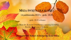 14 października 2019 r. Msza św. dla kobiet