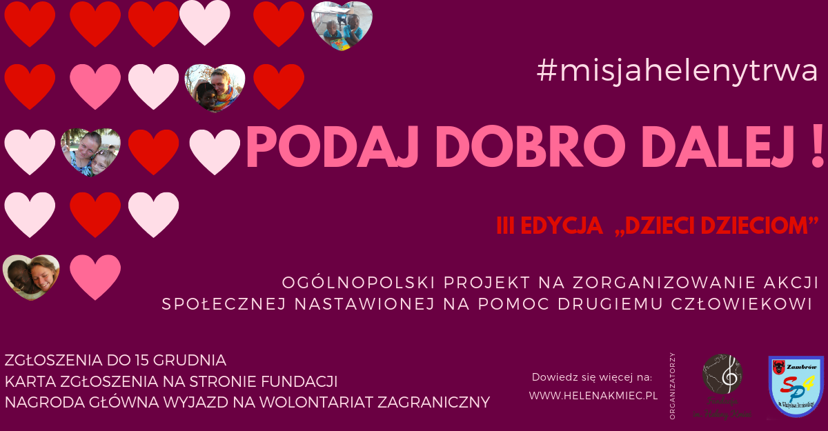 """Trwają zapisy do ogólnopolskiego projektu edukacyjnego """"Podaj dobro dalej!"""""""