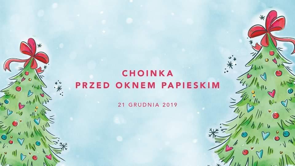 """""""Choinka"""" po raz 13 przed Oknem Papieskim"""