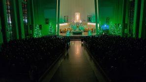 Bp Jan Zając podczas Pasterki w Łagiewnikach: serce Boga-Człowieka objawia się sercom ludzkim