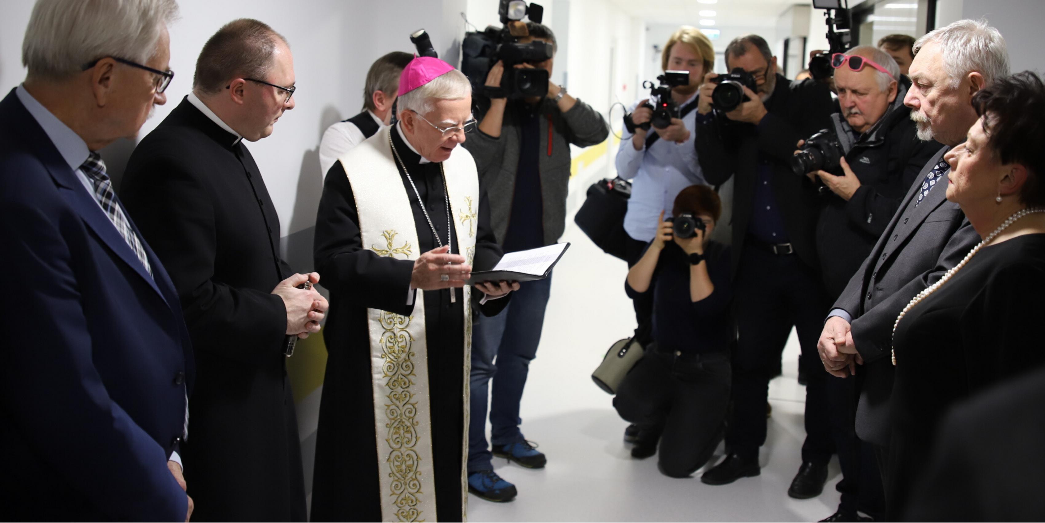 Abp Marek Jędraszewski na spotkaniu opłatkowym w Szpitalu im. G. Narutowicza