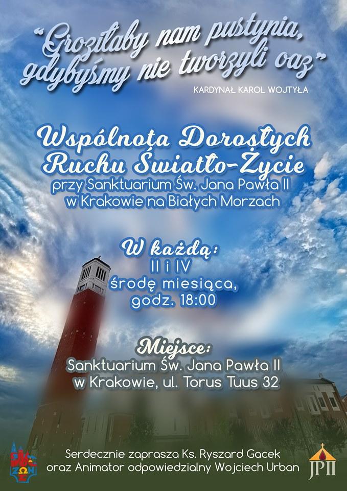 Spotkania Wspólnoty Dorosłych Ruchu Światło-Życie Archidiecezji Krakowskiej