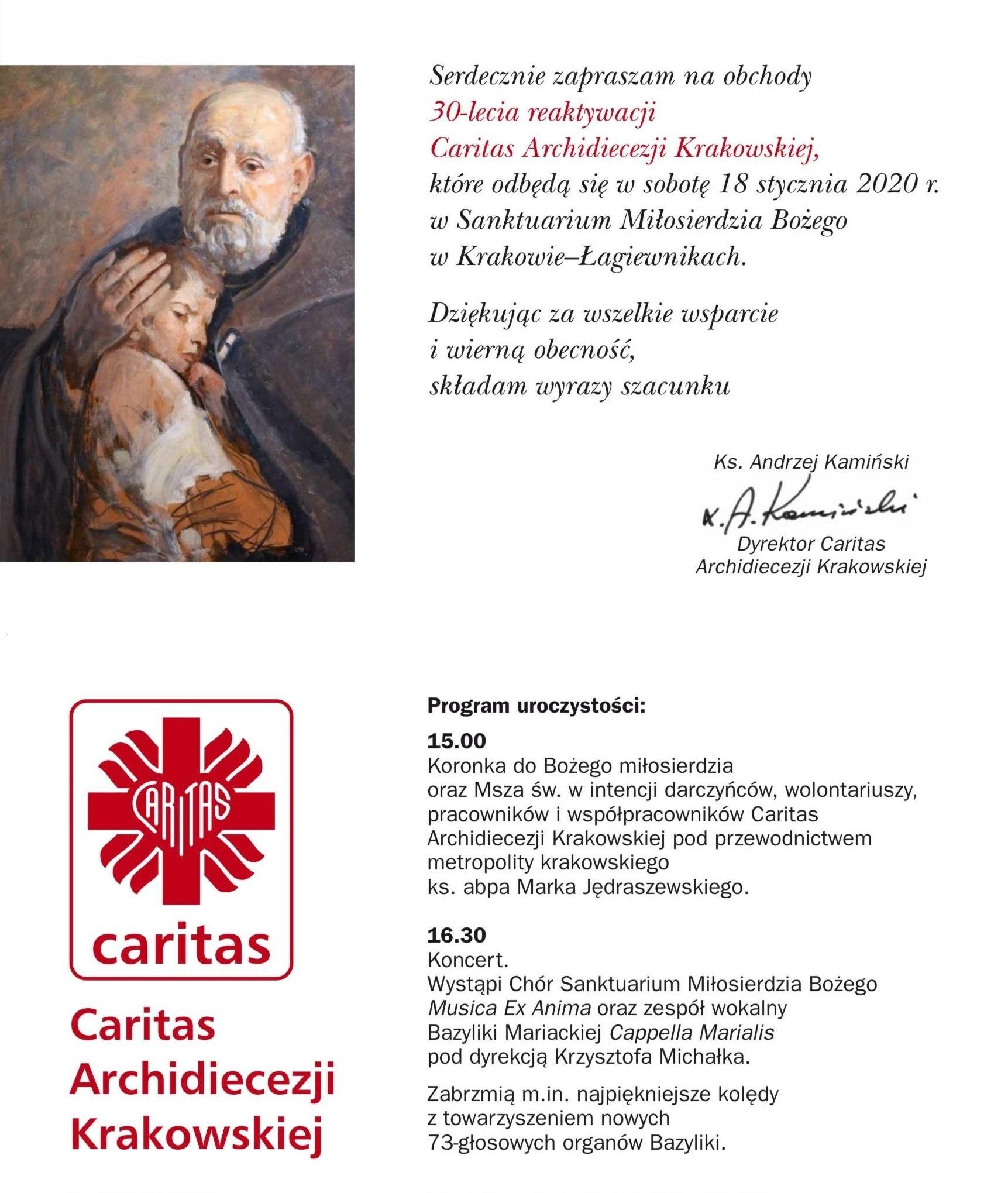 30-lecie Caritas Archidiecezji Krakowskiej