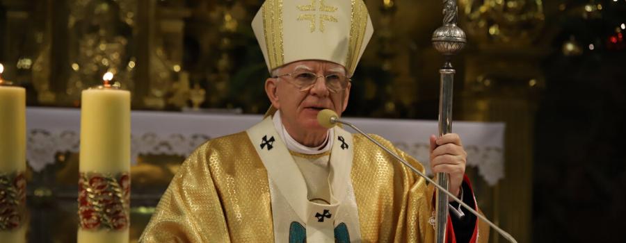 Abp Marek Jędraszewski podczas Mszy św. w intencji beatyfikacji Sługi Bożego Jerzego Ciesielskiego: Kościół podąża drogą człowieka
