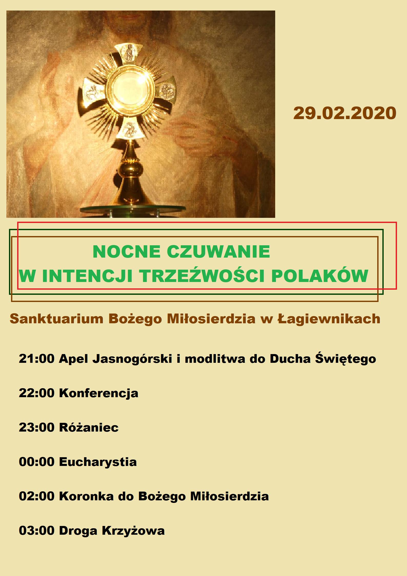 Nocne czuwanie w intencji trzeźwości Polaków