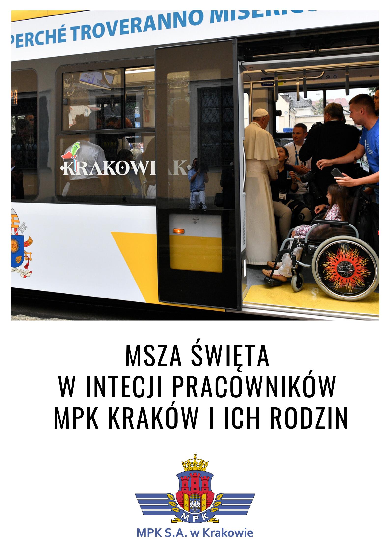 Msza św. w intencji pracowników MPK Kraków i ich rodzin