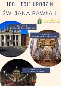 Obchody 100 lecia urodzin Karola Wojtyły przez Fundację Jana Pawła II w Rzymie