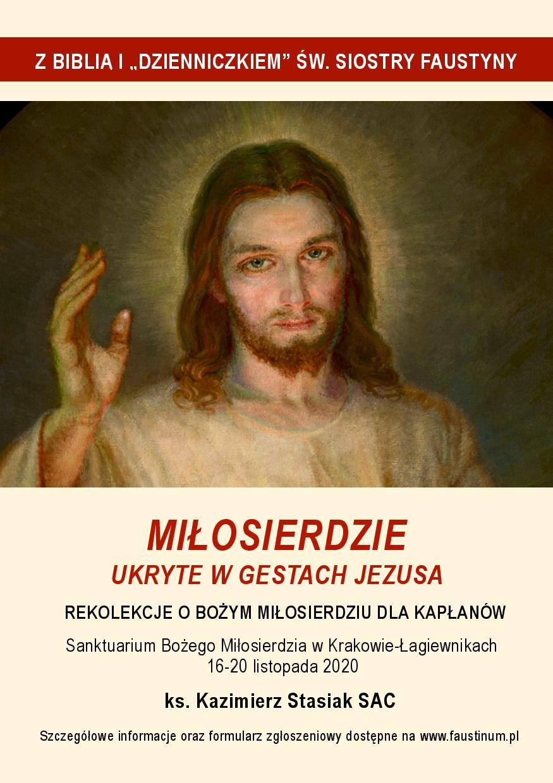 """Rekolekcje dla kapłanów """"Miłosierdzie ukryte w gestach Jezusa"""""""