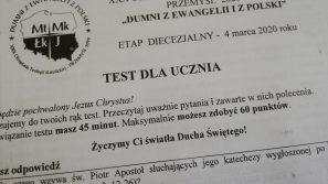 """Diecezjalny etap XXX Olimpiady Teologii Katolickiej """"Dumni z Ewangelii i Polski"""""""