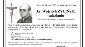 Zmarł śp. +ks. prof. Wojciech Życiński SDB, były prorektor Papieskiej Akademii Teologicznej w Krakowie