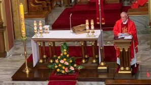 Ks. Grzegorz Szewczyk w Łagiewnikach modlił się w intencji strażaków