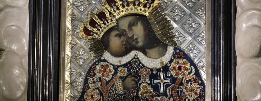 Dziękczynienie za obecność cudownego obrazu Matki Bożej Kalwaryjskiej w sanktuarium