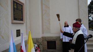 Poświęcenie tablicy pamiątkowej na kaplicy pw. Przemienienia Pańskiego w Kalwarii Zebrzydowskiej