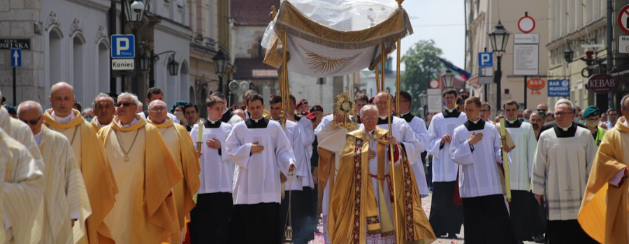 Zaproszenie Arcybiskupa Marka Jędraszewskiego do wzięcia udziału  w procesji Bożego Ciała