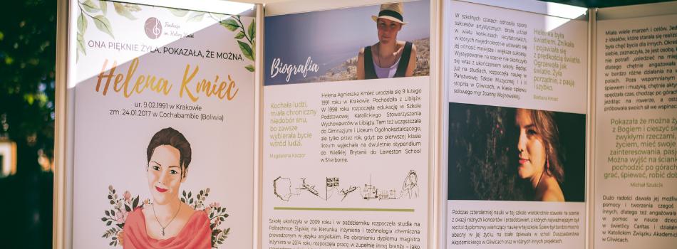 """Ogólnopolska wystawa plenerowa pt. """"Helena Kmieć. Ona pięknie żyła. Pokazała, że można"""""""