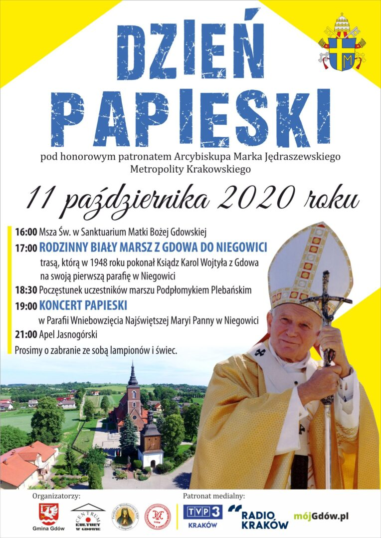 Dzień Papieski i Biały Marsz z Gdowa do Niegowici