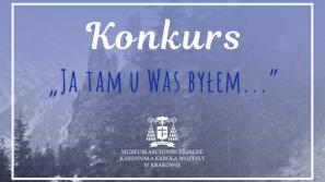 """Konkurs plastyczno-literacki dla dzieci i młodzieży """"Ja tam u was byłem…""""."""
