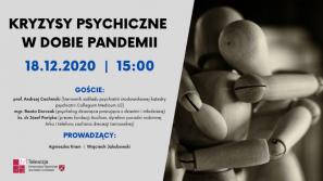 """XIV Konferencja Naukowa Etyki Mediów i debata """"Kryzysy psychiczne w dobie pandemii"""""""