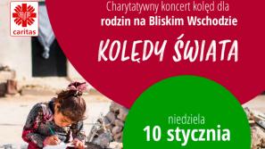 """Koncert charytatywny Caritas Polska w Telewizji Polskiej """"Kolędy Świata"""""""