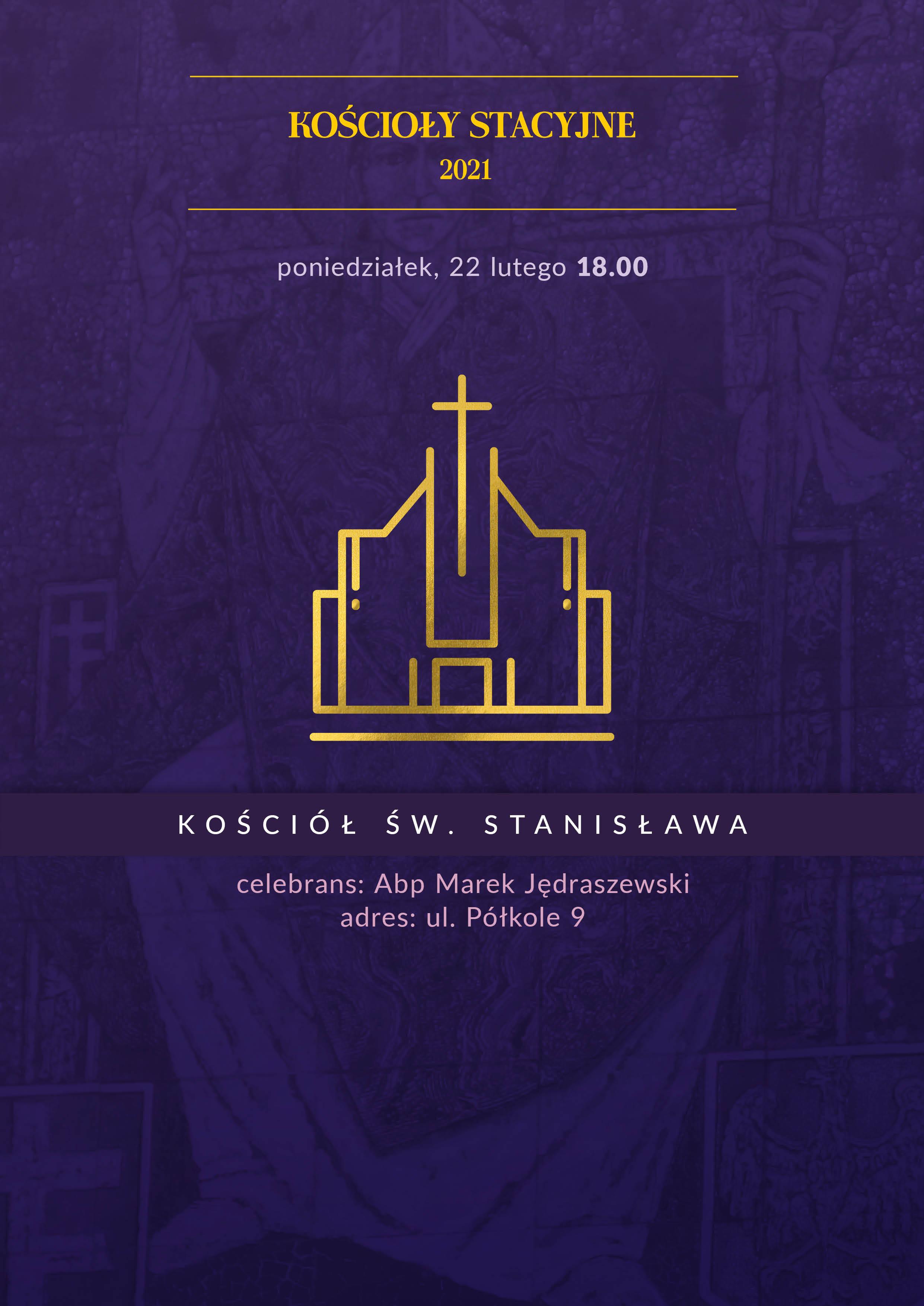 Msza św. w stacyjnym kościele św. Stanisława na Dąbiu